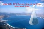 """Salda Gölü, 2012 Numune Sonuçlarına Göre """"Mükemmel Kalite"""""""