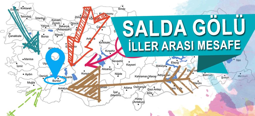 Salda Gölü Iller Arası Mesafeleri Salda Gölü Tanıtım Sitesi