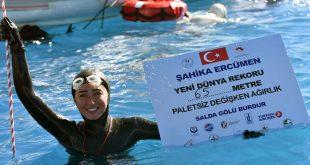 Şahika Ercümen, Salda Gölü'nde Dünya Rekoru Kırdı