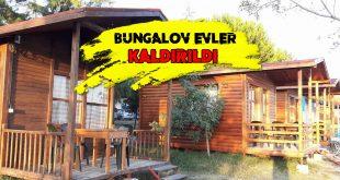 Salda Gölü Bungalov Evler Kaldırılıyor