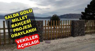 Salda Gölü Millet Bahçesi Projesi Onaylandı