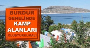 Burdur Genelinde Kamp Alanları Oluşturulmalı