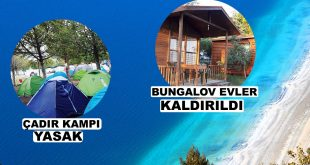Salda Gölündeki Çadır ve Bungalov Evler Kaldırıldı