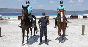 Salda Plajı Atlı Jandarma Birlikleri