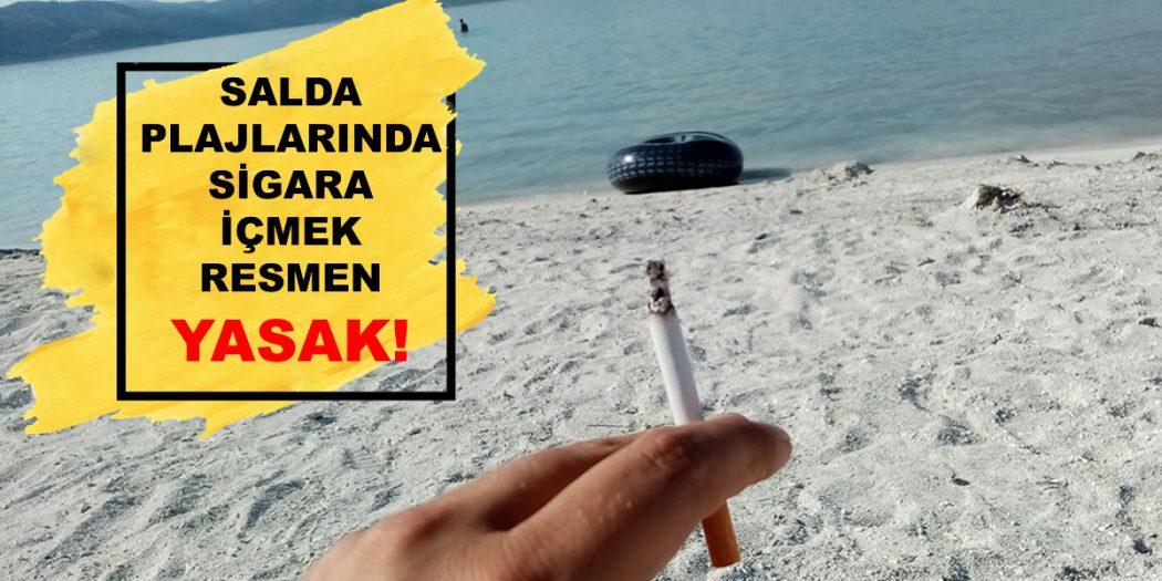 Salda Gölünde Sigara İçmek Yasak!