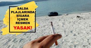 Salda Gölü Plajlarında Sigara İçmek Resmen Yasak