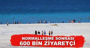 Salda Gölü 600 Bin Ziyaretçi Ağırladı