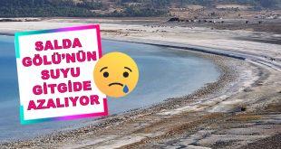 Salda Gölü'nün Suyu Azalıyor