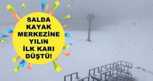 Salda Kayak Merkezine Sezonun İlk Karı Düştü